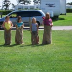 Sack races at Marco Polo Land